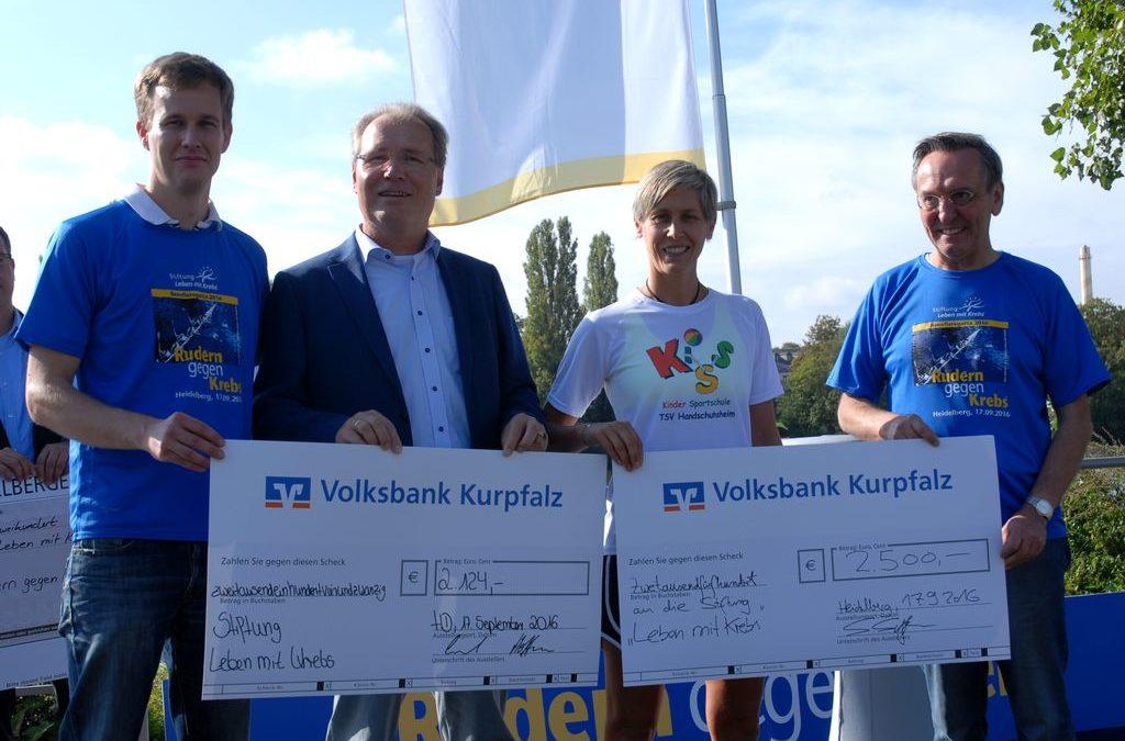 """KiSS übergibt Spendenscheck bei """"Rudern gegen Krebs"""""""